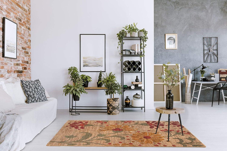 HAMID Alfombra Yute Ubeda Flor Color Natural Alfombra 100/% Fibra de Yute 160x230cm