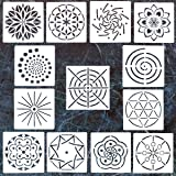 13 Pack Mandala Dotting Stencils Template,Mandala Dotting Stencils Mandala Dot Painting Stencils Painting Stencils for Painting on Wood,Airbrush and Walls Art