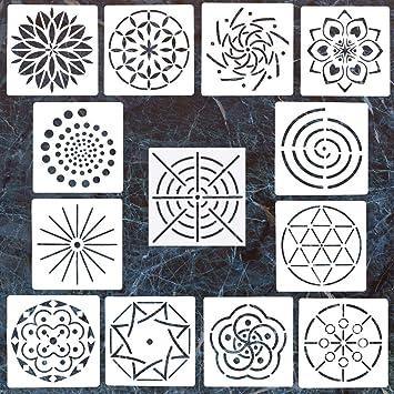 Amazon Com 13 Pack Mandala Dotting Stencils Template Mandala