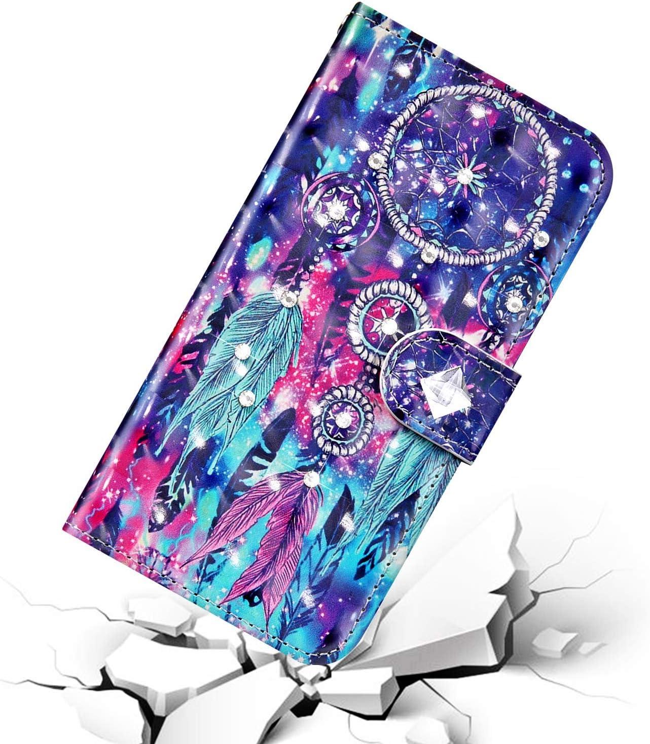 Surakey H/ülle f/ür Huawei P20 Lite 2019 Handyh/ülle Schutzh/ülle Klapph/ülle Gl/änzend Bling Glitzer Diamant Muster PU Lederh/ülle Brieftasche Flip Case Wallet Tasche Handytasche Kartenf/ächer,Blau Mandala