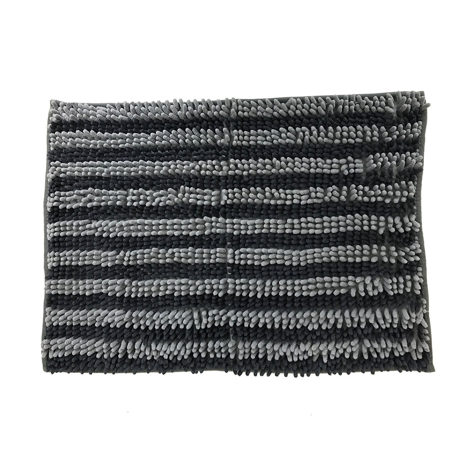 Dog Cat Pet Absorbent Microfiber Chenille Rug (24''x17'', Charcoal/Grey) by Pooch Pen (Image #1)