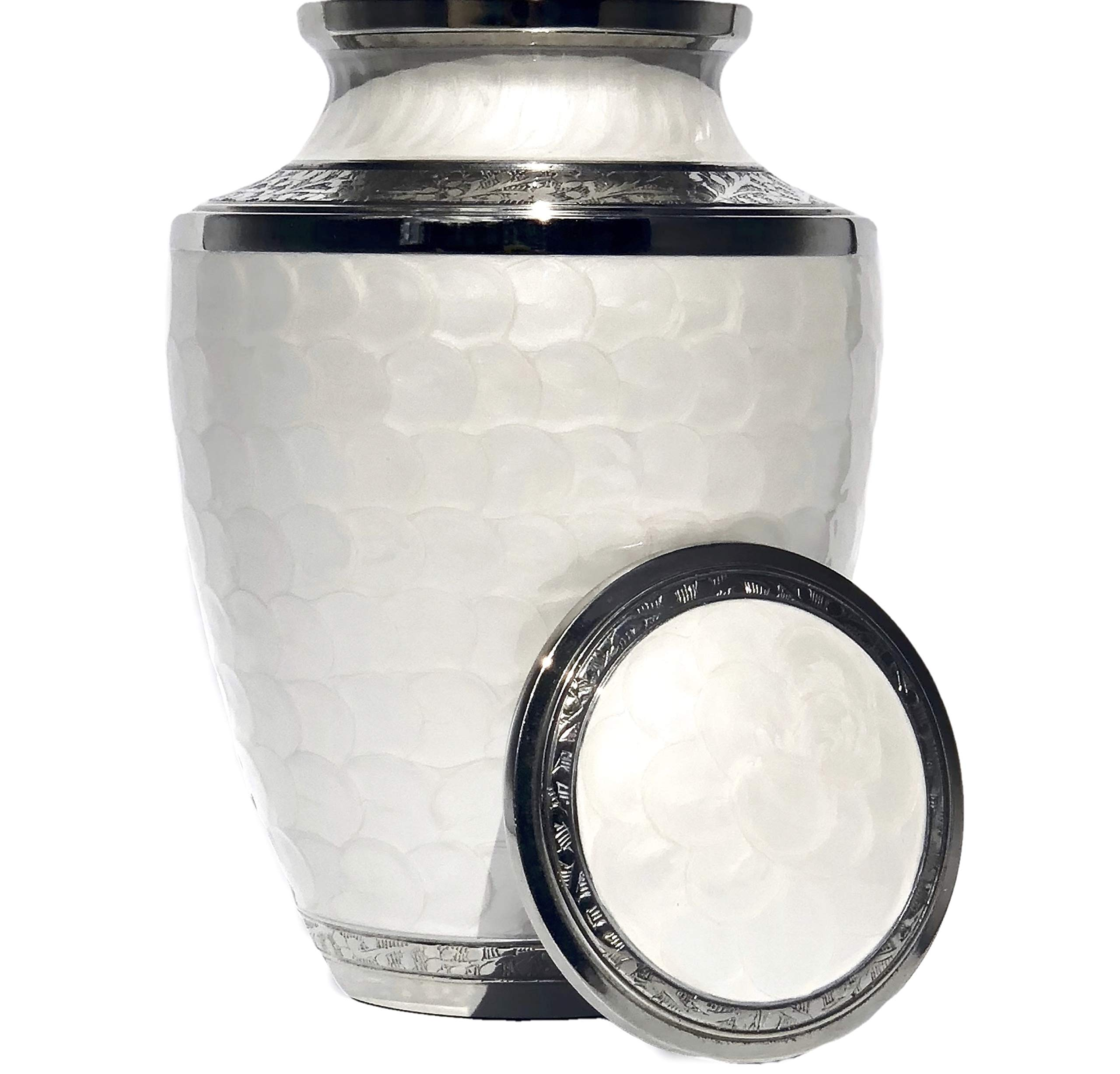 Eternal Harmony Cremation Urn for Human Ashes | Funeral Urn Carefully Handcrafted with Elegant Finishes to Honor and Remember Your Loved One | Adult Urn Large Size with Beautiful Velvet Bag by Eternal Harmony