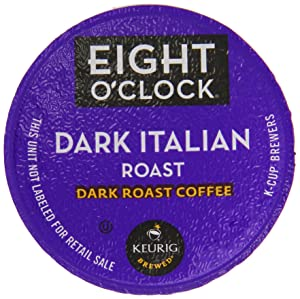 Eight O'Clock Coffee Dark Italian Roast K-Cups, 24-Count (Pack of 2)