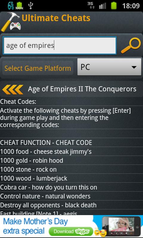 Ultimate Cheats