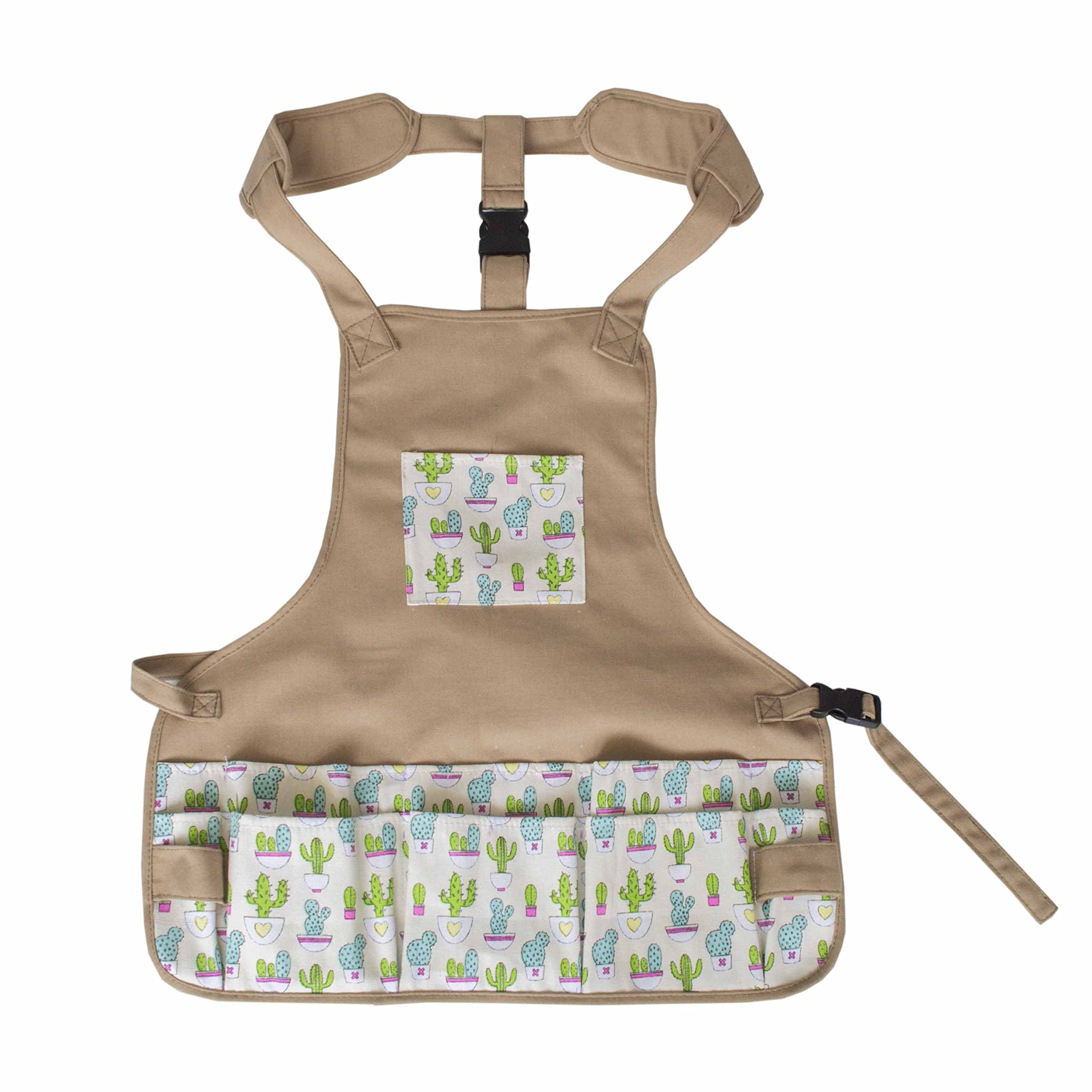 Canvas Garden Tool Apron Gardening Workers Apron for Women (Cactus) by Mydays