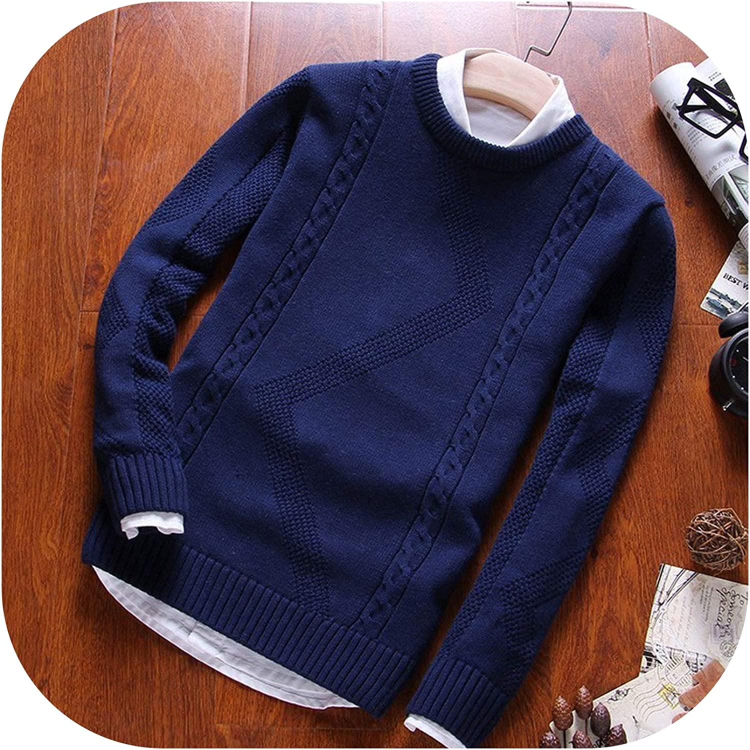 Mens Sweater Pullovers O Neck Cotton Knit Sweater Coat Winter Casual Long Sleeve Sweaters Homme Knitting Solid Tops