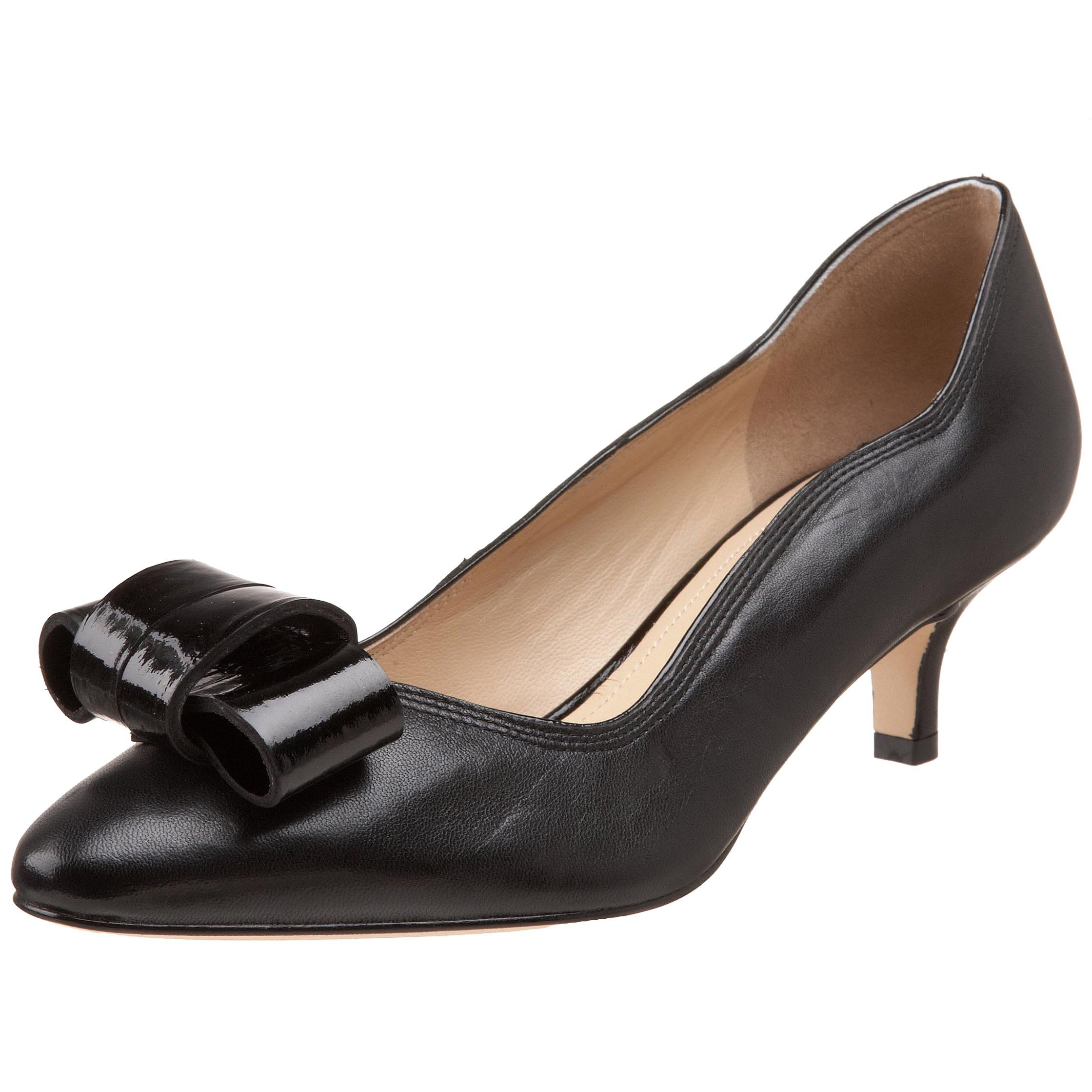 Joan & David Collection Women's Beatriz Pump,Black Leather,7 M US