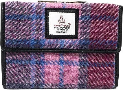 Harris Tweed Pink Tartan Single Clasp Purse