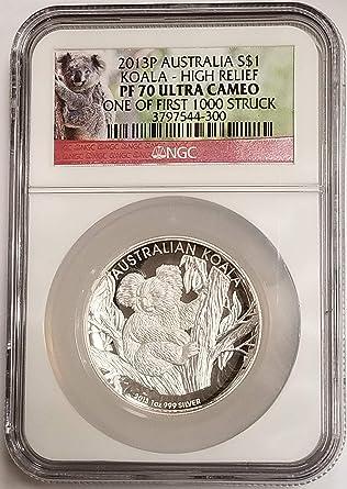 2013 Australian Kookaburra 1 oz Silver Proof High Relief Coin W//Box /& COA