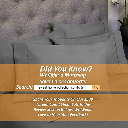Sweet Home Collection 6 Piece 1500 Thread Count Deep Pocket Bed Sheet Set    2 EXTRA