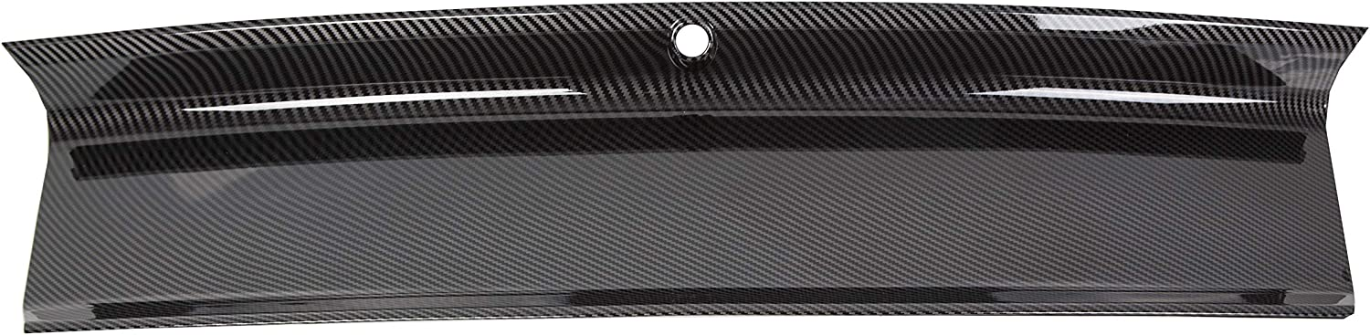 ECOTRIC Rear Carbon Fiber Color Center Trunk Lid Cover Panel Decklid Trim Replacement for 2015-2018 Ford Mustang GT