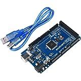 Kuman Arduinoに対策 MEGA2560 R3 互換ボード for Arduino Rev3 Mega 2560 Rev3 USBケーブル付属 k16