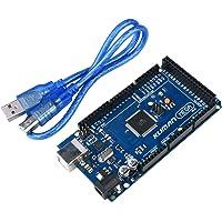 Kuman Mega2560 R3 ATmega2560-16AU + ATMEGA16U2 + USB Cable for Robot Arduino UNO MEGA2560 R3 Duemilanove (Version 2.0)