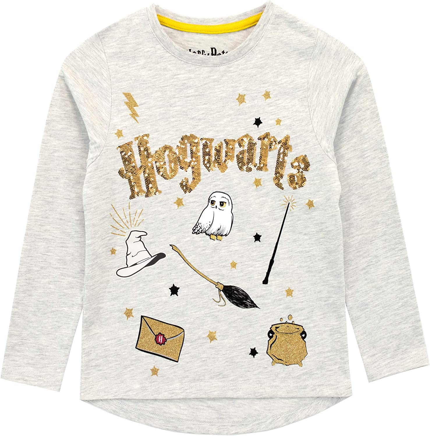 HARRY POTTER Girls Hogwarts Long Sleeved Top