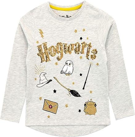 HARRY POTTER Camiseta de Manga Larga para niñas Hogwarts: Amazon.es: Ropa y accesorios