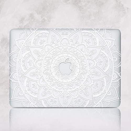 free shipping 19d32 37ebc Amazon.com: Mandala Macbook Air Case With Printed Bottom Hard ...