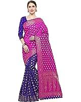 KOROSHNI Art Silk Saree Without Blouse Piece(Cd-Saree For Women Latest Designsamurai)