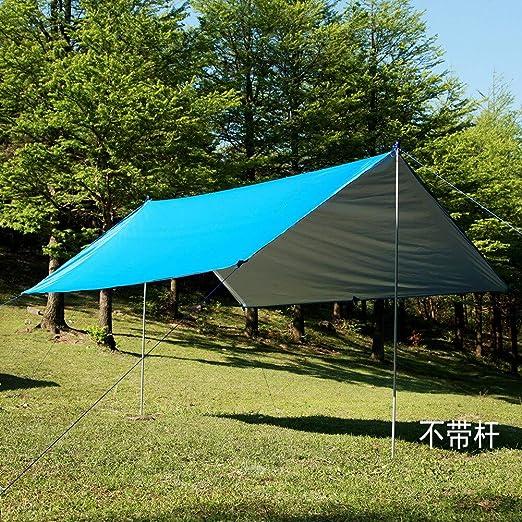 UEWKJGKR Hamaca Plata Revestimiento Impermeable Hamaca Toldo Toldo Canopy Tent Tarp Beach Camping Portátil Pergola Sombrilla Al Aire Libre Azul: Amazon.es: Jardín