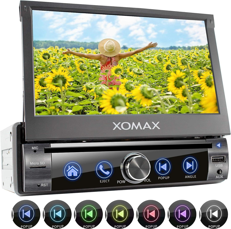 XOMAX XM-D761 Radio de Coche I Autoradio con Bluetooth Manos Libres I 7
