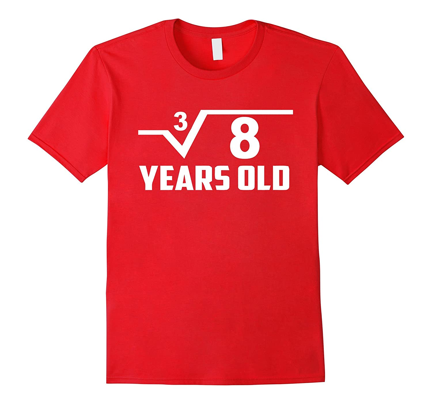 Cube Root Of 8 2 Years Old Birthday T Shirt Square Tee Gm