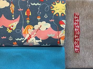 Stoffpaket Patchwork Set DIY 5 x 30 x 50 cm Schmetterling und Blümchen Baumwolle