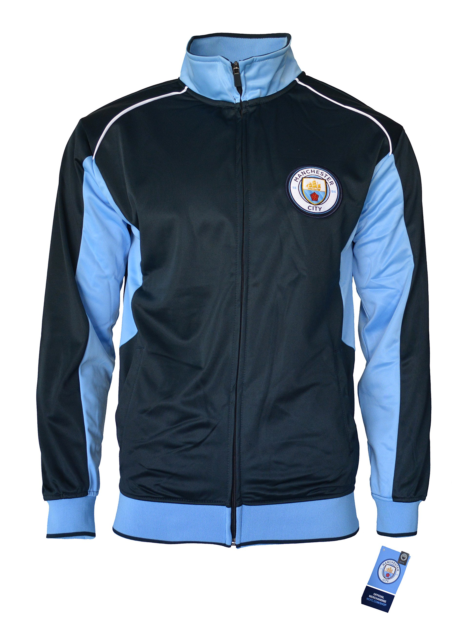Manchester City Jacket Track Soccer Adult Sizes Soccer Football Official Merchandise (XL, Navy) by Manchester City F.C.