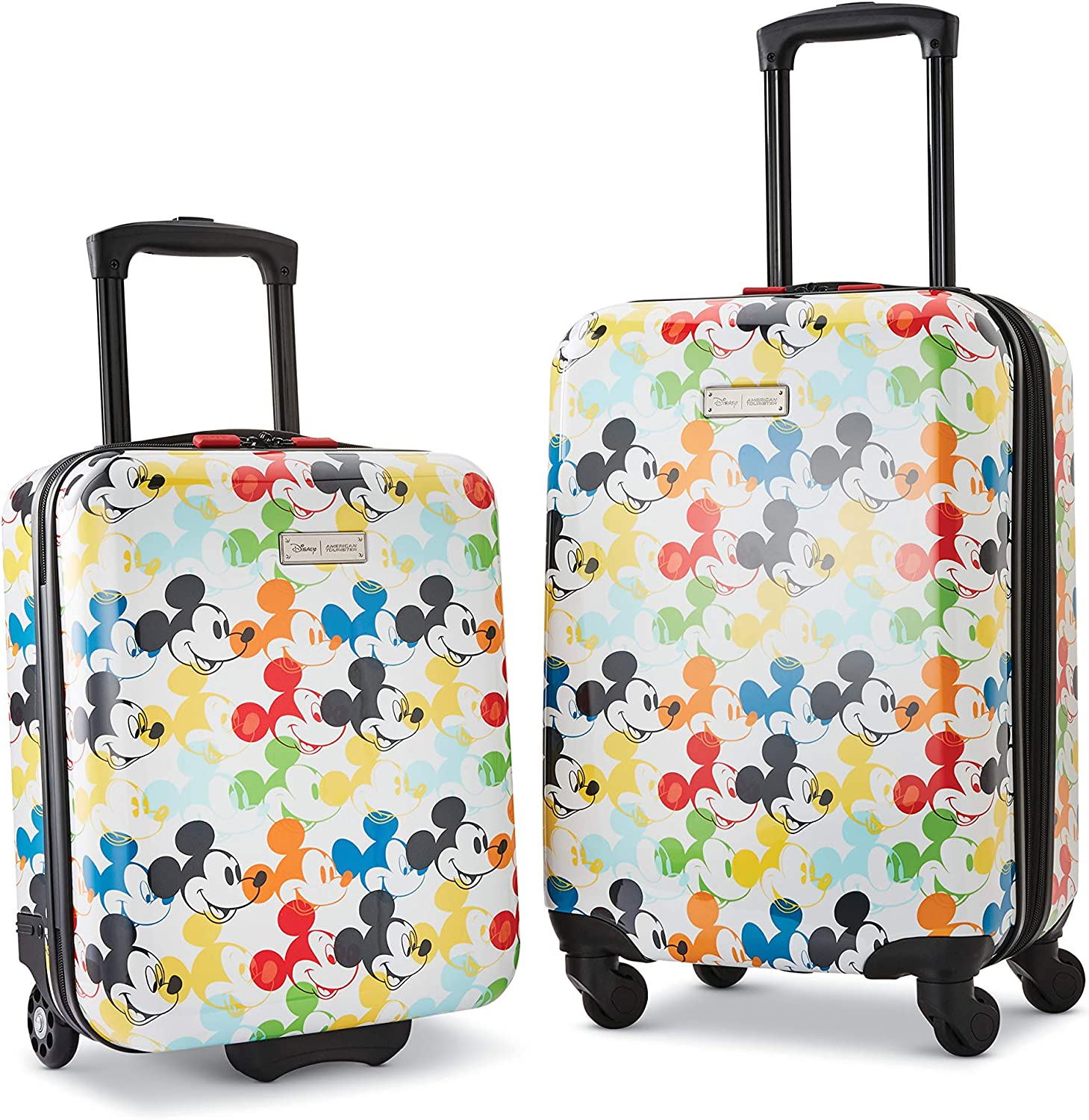 Amazon Com American Tourister Disney Hardside Luggage With Spinner Wheels Mickey Mouse 2 2 Piece Set 18 21 Kids Luggage