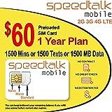1 Year Prepaid GSM SIM Card - Rollover 1500 Talk Text Data