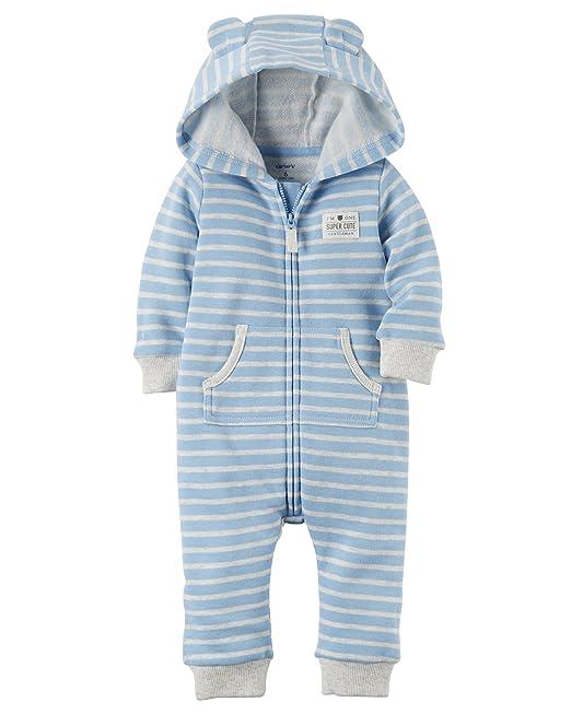 4149529f9 Carter s Baby Boys Brushed Fleece Hooded Romper Jumpsuit