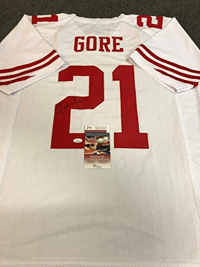 S.F. 49ERS FRANK GORE AUTOGRAPHED SIGNED JERSEY JSA COA at ...