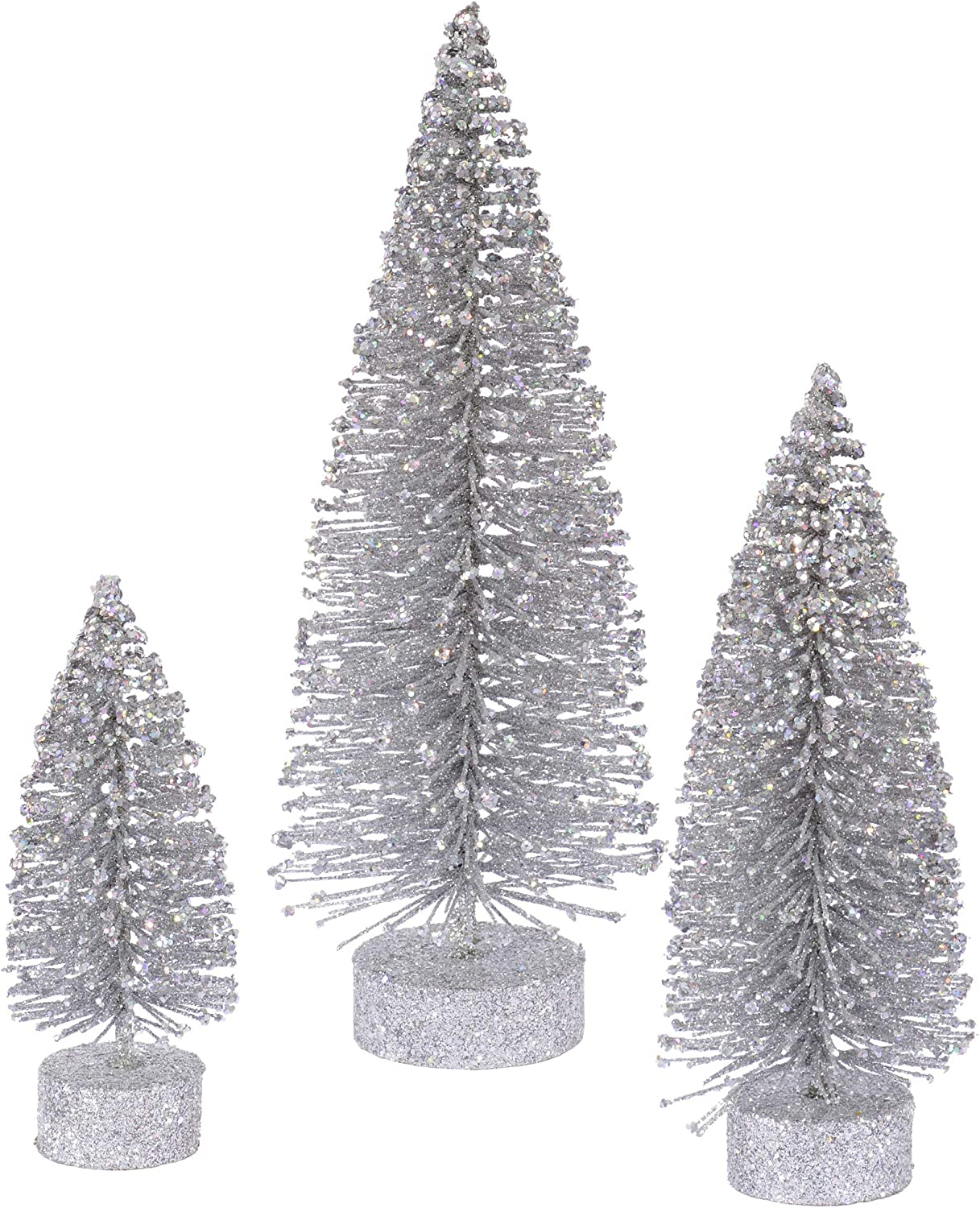 Vickerman Glitter Set Tabletop Artificial Christmas-Trees, 5