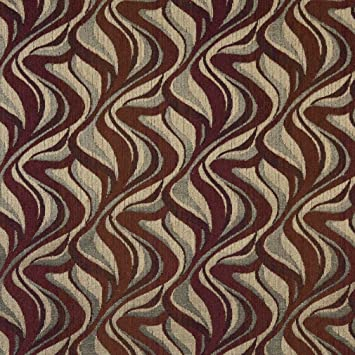 Amazon Com F518 Red Gold And Grey Abstract Flame Chenille
