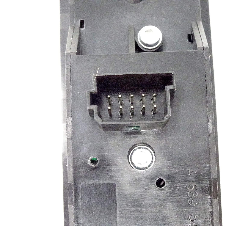 Bot/ón elevalunas Ajuste Espejos Compatible con OEM A6395451213