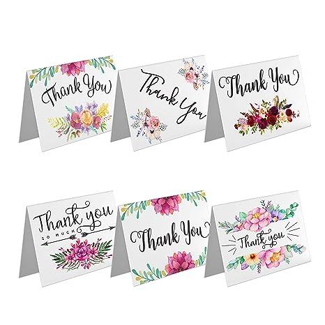 Amazon.com: Tarjetas de agradecimiento con sobre blanco para ...