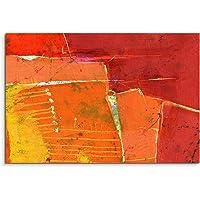 Paul Sinus Art 120x 80cm tela immagine tela stampa d' arte murale Giallo Rosso Arancione dipinte