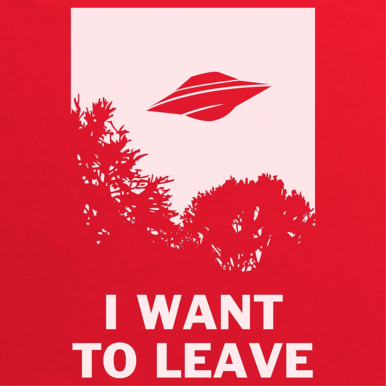 I Want To Leave Camiseta infantil, Para nios, Rojo, XS: Amazon.es: Ropa y accesorios