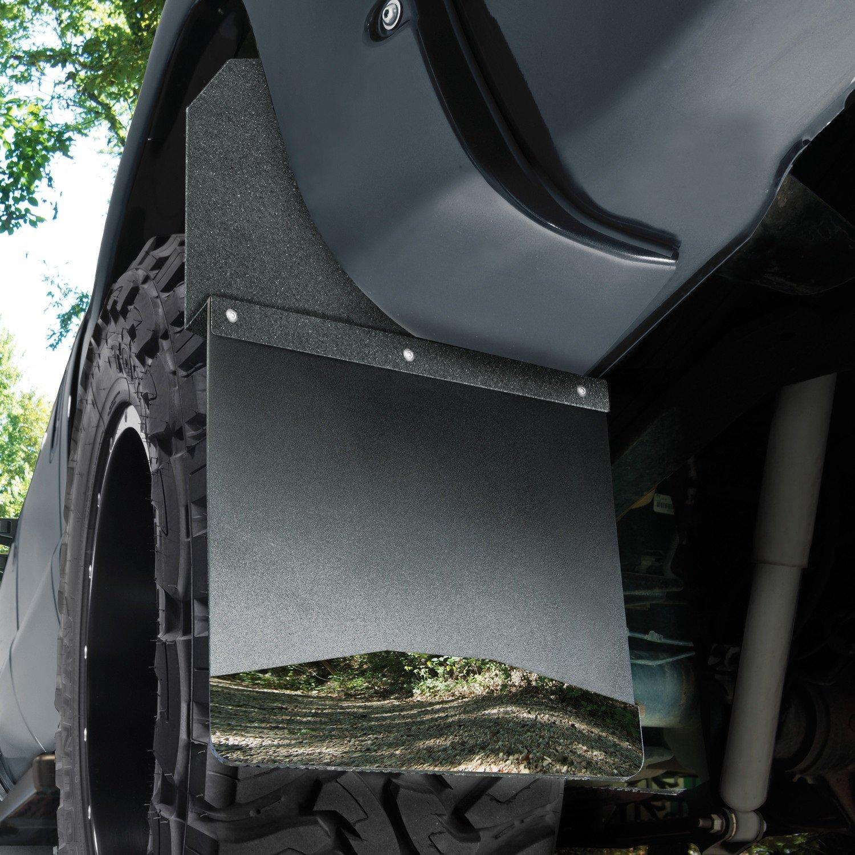 Husky Liners Kick Back Mud Flaps 14IN Wide Black Top//Wt Fits Silverado//F150//Ram