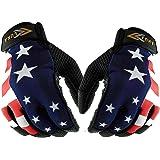 LÜNA Baseball and Softball Batting Gloves   American Flag Style   Durable Quality Baseball Gear   Genuine Leather   Unisex Adult
