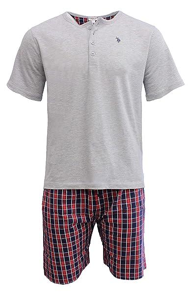 U.S.POLO ASSN.. - Pijama - para Hombre Gris/Rojo XL: Amazon.es ...