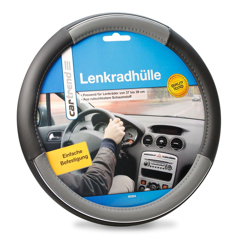 Cartrend Lenkradhülle 60294 Cartrend Lenkradhülle Schwarz Grau