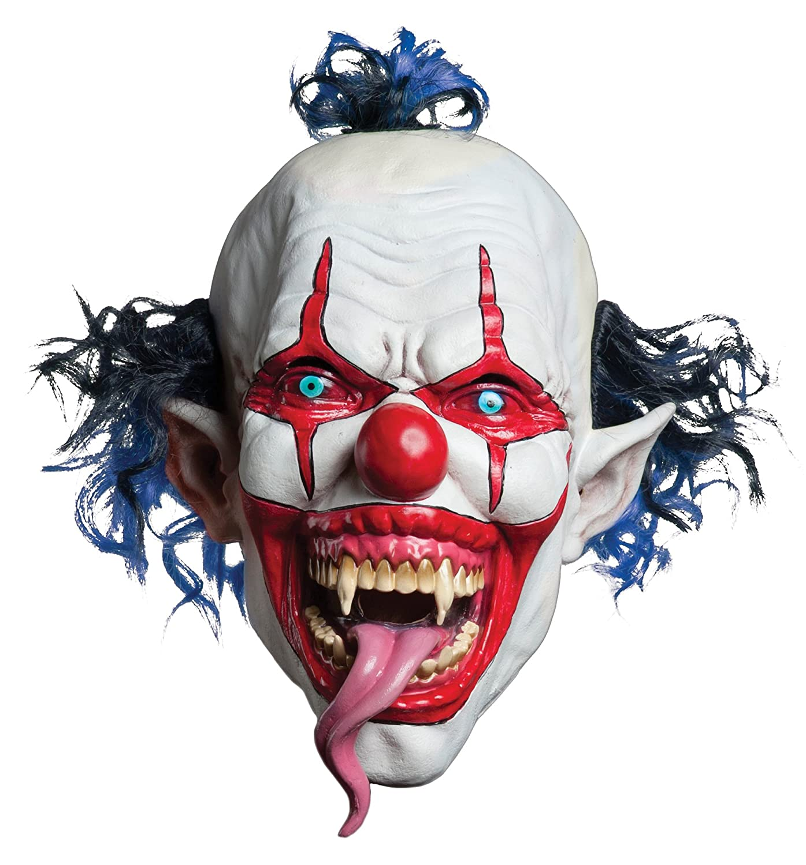 Morbid Enterprises Snake Tongue Evil Clown Mask Red/White/Blue One Size M37114