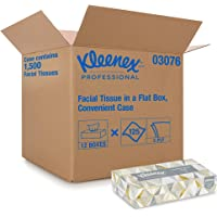 Kleenex Facial Tissue Flat Tissue Boxes, Convenience Case, case of 12, White, 12