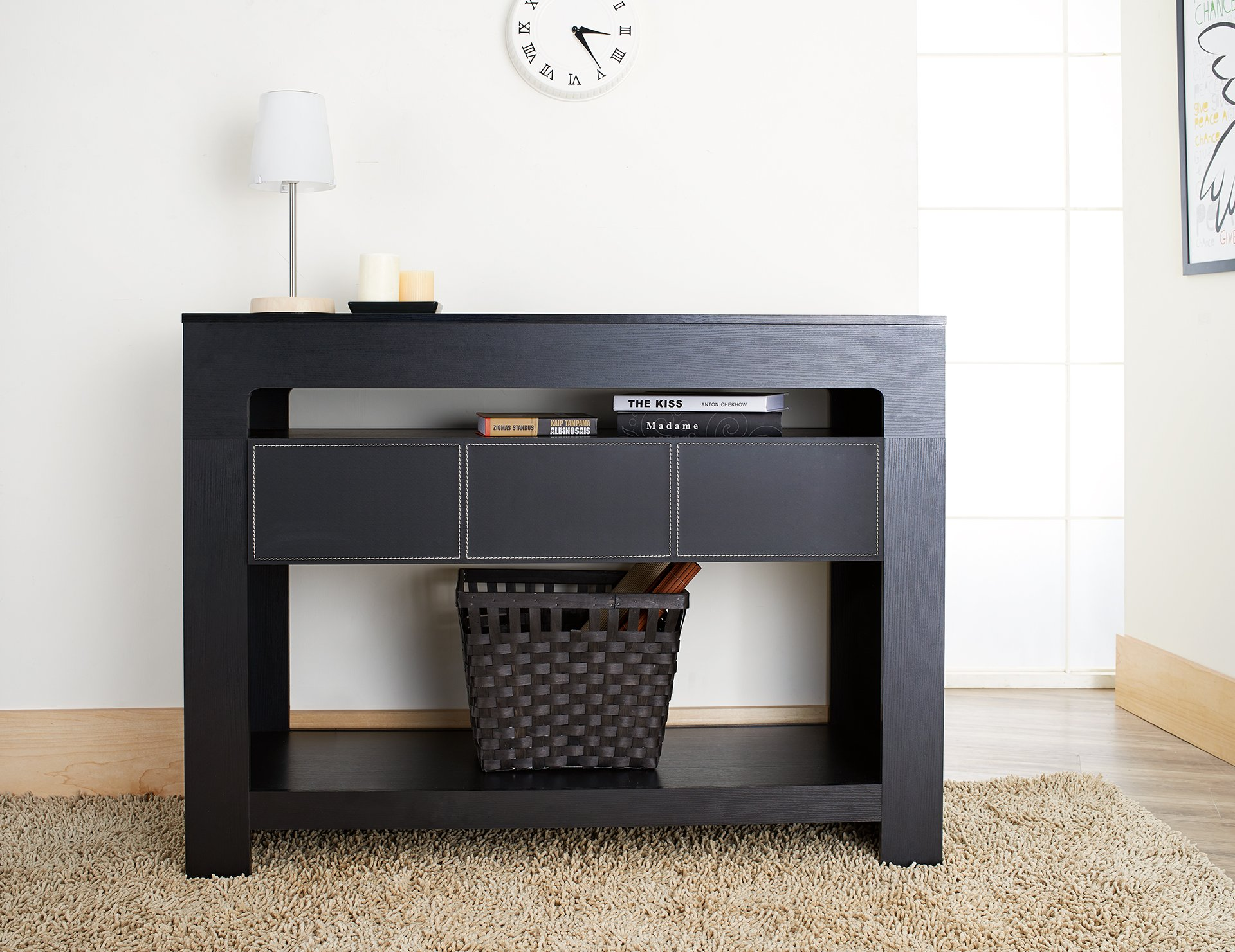 ioHOMES Lado Contemporary Console Table, Black by HOMES: Inside + Out (Image #2)