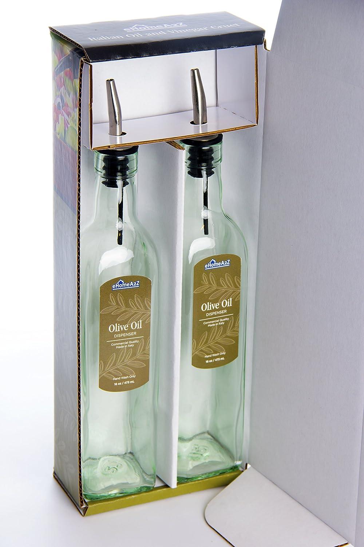 Ehomea2z Italian Glass Oil And Vinegar Cruet 16 Oz Olive Oil