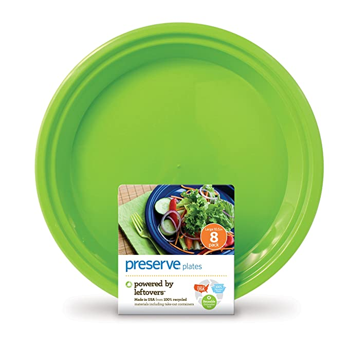 Amazon.com | Preserve On the Go Large Plates Set of 8 Apple Green Disposable Plates Tumblers  sc 1 st  Amazon.com & Amazon.com | Preserve On the Go Large Plates Set of 8 Apple Green ...