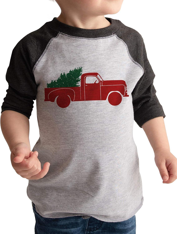 7 ate 9 Apparel Vintage Truck Christmas Shirt Grey