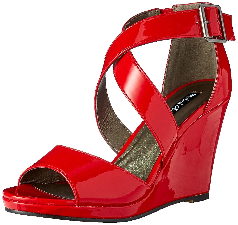 Michael Antonio Women's Amis-Pat Wedge Sandal B01MTP5A20 8.5 B(M) US|Red