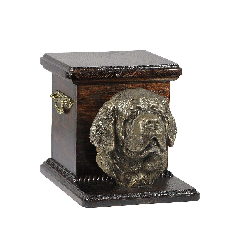 Bernhardiner, Memorial, Urne für Hunde Asche, mit Hund Statue, ArtDog