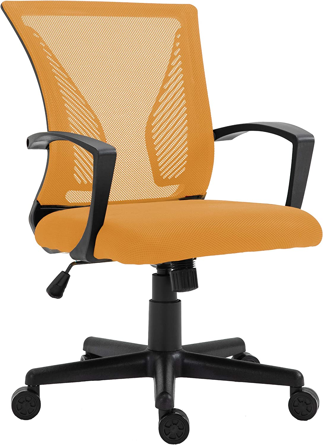 HALTER Desk Chair - Orange Gaming Mesh Chair - Adjustable and Comfortable Ergonomic Chair with Armrests and Wing Lumbar Support - Ideal Gaming or Home Office Chair