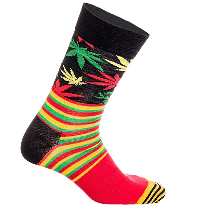 Happy Socks X Snoop Dogg Tamaño de calcetines (10 - 13) Negro Black Striped - Rasta Talla única: Amazon.es: Ropa y accesorios